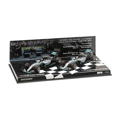 Hamilton and Rosberg World Champion 2 Car Set